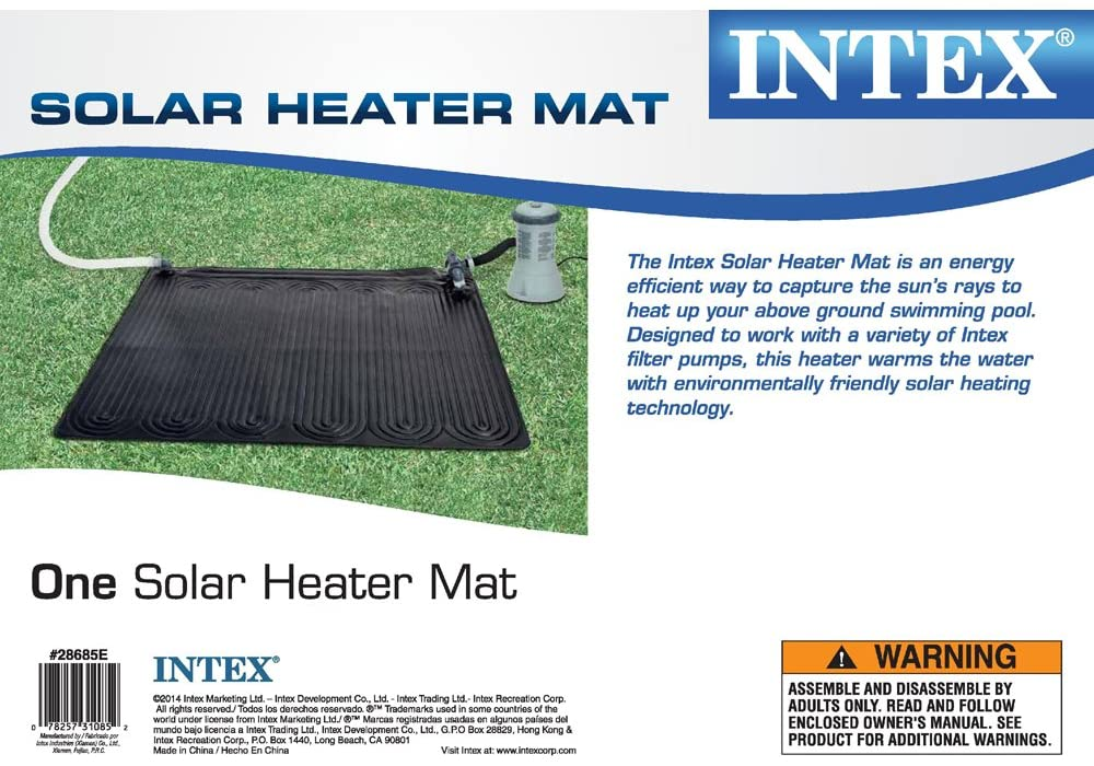 Intex Solar Heater Mat for Above Ground Swimming Pool, 47in X 47in - Bestime2shop