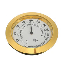 Charger l'image dans la galerie, 37mm Brass Analog Smoking Tobacco Hygrometer Round Humidifier For Cigar Humidor - Bestime2shop