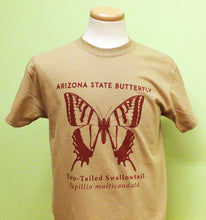 Load image into Gallery viewer, Arizona State Butterfly T-Shirt (Two-tailed Swallowtail Papillio-multicaudata)