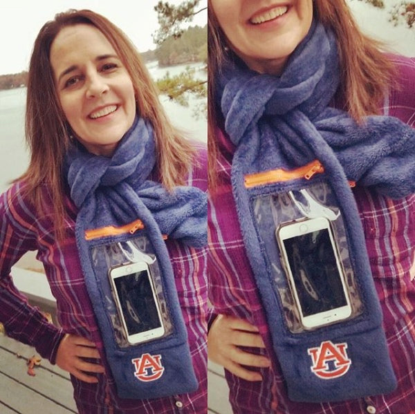 phone scarf with auburn logo