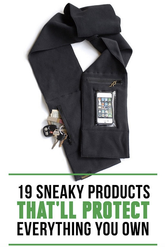 Scarf with phone pocket in BuzzFeed