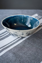 Load image into Gallery viewer, Large porcelain bowl deep blue & bubbles - ZLATNAporcelain