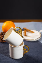 Load image into Gallery viewer, Porcelain elegant cup white & gold - ZLATNAporcelain