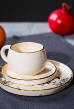 Load image into Gallery viewer, Porcelain tea cup white & gold - ZLATNAporcelain