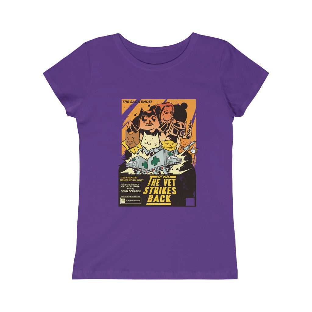 Cat Wars Big Girls Tee