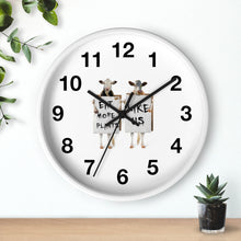 Load image into Gallery viewer, Eat More Plants Wall clock