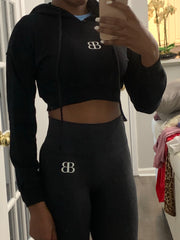 Bodied Cropped Hoodie