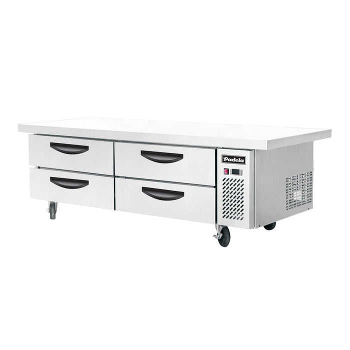 "Padela PDRB-76T-HC 73"" 4-Drawer Refrigerated Chef Base with Extended Top"