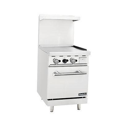 "Padela PCR-24G Liquid Propane 24"" Griddle with Compact Oven"