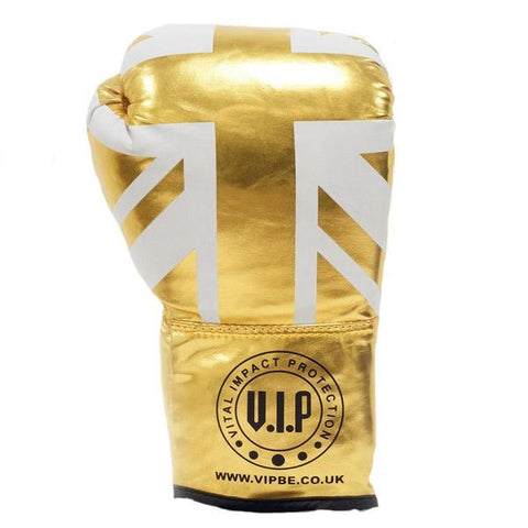 Gold UK Flag Autograph Gloves - VIPBE