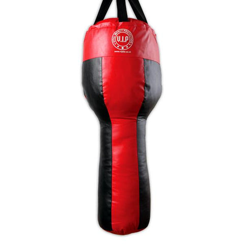 Black & Red PU Angle Boxing Punch Bag - VIPBE