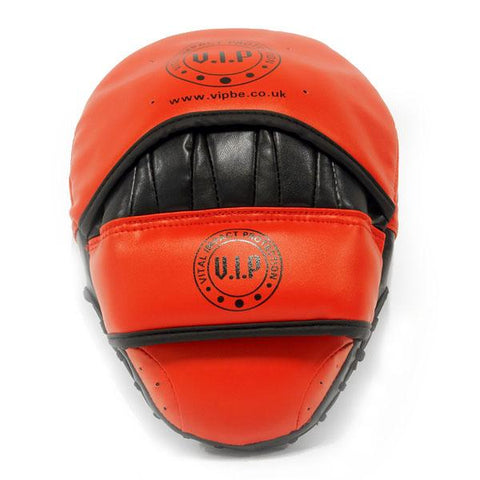 Red & Black PU Boxing Hook & Jab Pads - VIPBE