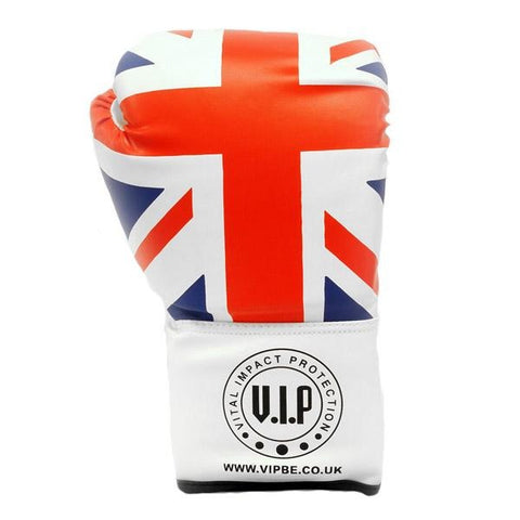 UK Flag Red, White & Blue Autograph Glove - VIPBE