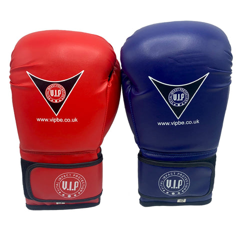 Honoris Red & Blue PU Velcro Boxing Sparring Gloves