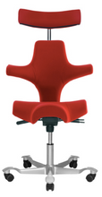 Load image into Gallery viewer, HAG Capisco 8107 - Saddle Seat with Backrest and Headrest (Fully Upholstered) - ErgoEquip