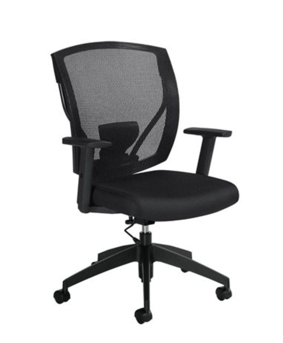 MVL2806 Ibex | Upholstered Seat & Mesh Back Task Office Chair - ErgoEquip