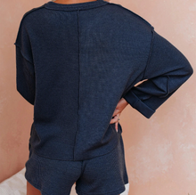 Load image into Gallery viewer, Rib-knit Top And Shorts Two Piece Set