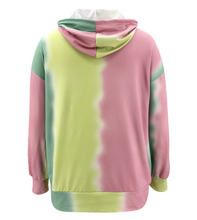 Load image into Gallery viewer, Tie-dye Print Hoodie And Shorts Two Piece Set