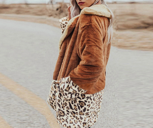 Leopard Patchwork Coat