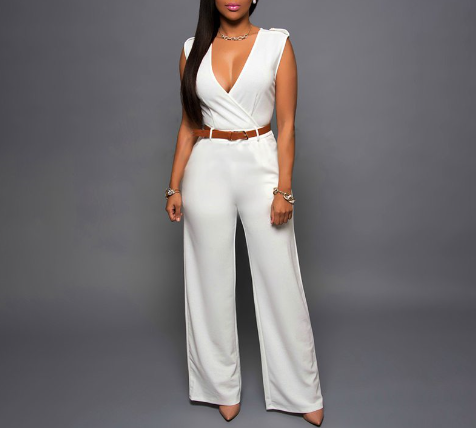 Wide-leg Wrapped Jumpsuits