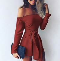 Knotted Long Sleeve Rompers