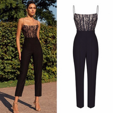 Load image into Gallery viewer, Lace Patchwork Jumpsuits
