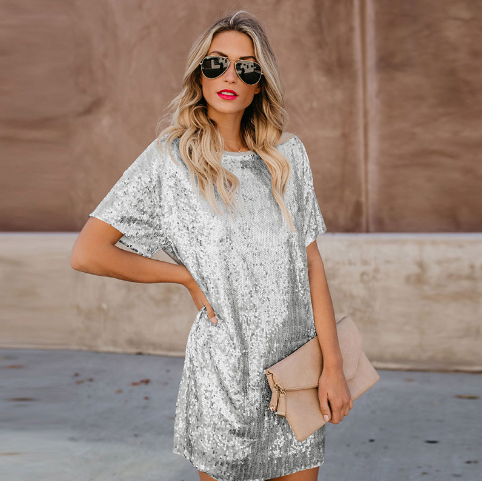 Sequin Design Casual Dress