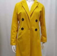 Yellow Button Casual Coat