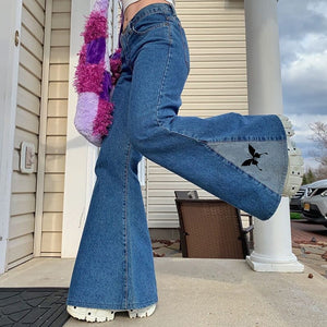 Butterfly flare jeans
