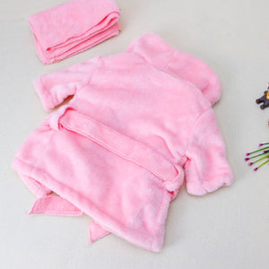 Bathrobe and Headwrap Newborn Set - EqualBaby