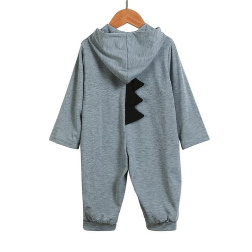Baby Boy Dinosaur Hooded Jumpsuit - EqualBaby