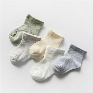 5 Pairs/Pack Summer Baby Socks - EqualBaby