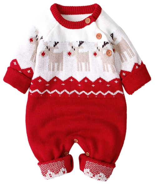 Xmas Baby Rompers Jumpsuit - EqualBaby