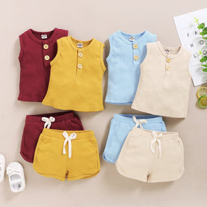 Vest Tops + Shorts Outfits Set - EqualBaby