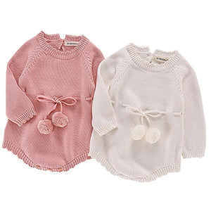 Baby Girl Knitted Rompers - EqualBaby