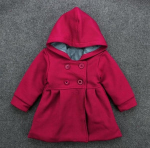 Baby Girls Jackets Hooded - EqualBaby