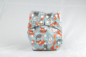 Earthlie Cloth Diaper - Foxes - EqualBaby