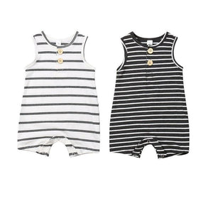 Baby Boy or Girl Striped Sleeveless Jumpsuit - EqualBaby