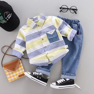 Striped Shirt + Jeans - EqualBaby