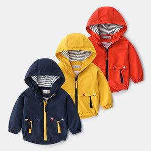 Jacket With Pocket Zipper Hooded Windbreaker - EqualBaby