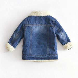 Cashmere Thicken Jeans Coat - EqualBaby