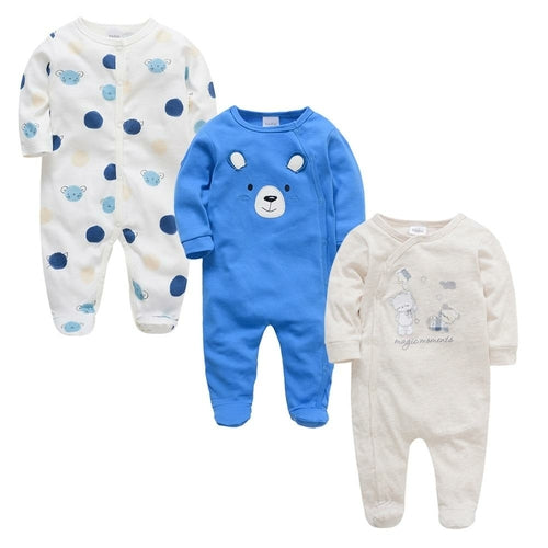 3 pcs Baby Long Sleeve Soft Cotton Boys Clothes