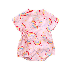Infant Baby Girls Boys rompers Short Sleeve Cute - EqualBaby