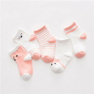 5Pairs Cotton Striped Baby Socks - EqualBaby