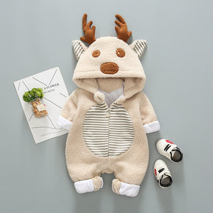 White Antler Baby Onesie - EqualBaby
