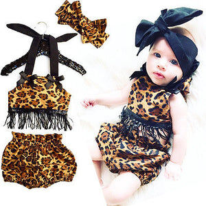 Baby Girl Clothes Leopard Tassels - EqualBaby