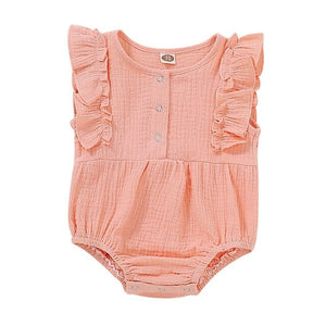 Girls Clothes Solid Round Neck - EqualBaby