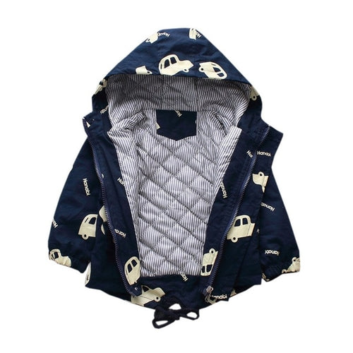 Baby Girl Jacket Cartoon Car - EqualBaby