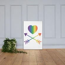 Load image into Gallery viewer, Rainbow Heart Canvas