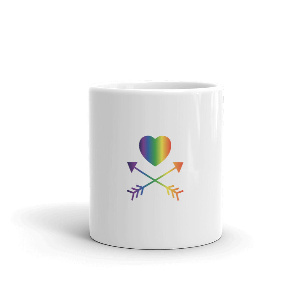 LLGTT White Mug- Rainbow Heart/Arrows(P1)